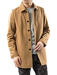(アーケード) ARCADE コート メンズ ロング メルトン ウール チェスターコート ステンカラーコート 起毛