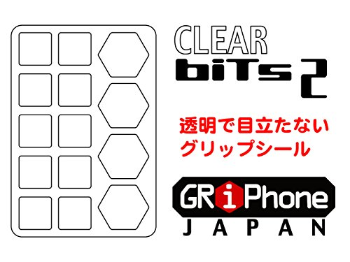 透明 滑り止め シート デジカメ スマホ などに 目立たない クッション系 GRiPhone Bits2 Clear グリフォン ...