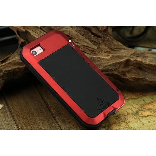 iPhone 5c ケース 耐衝撃、防塵、防水、赤
