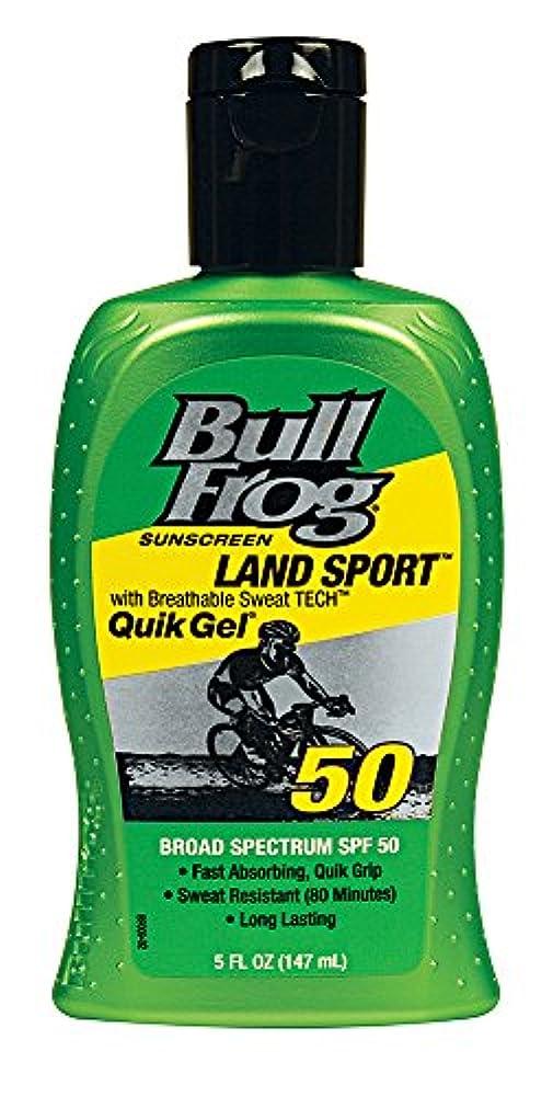 船員スプリット雪だるまBull Frog ウシガエルランドスポーツQuikのジェル日焼け止め、SPF 50、5オンス