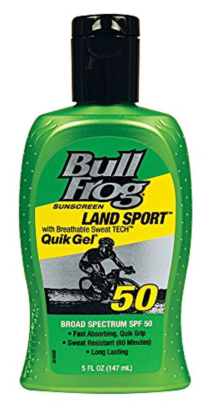 前奏曲コンペ可動式Bull Frog ウシガエルランドスポーツQuikのジェル日焼け止め、SPF 50、5オンス