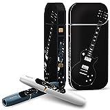 iQOS 2.4 plus 専用スキンシール COMPLETE アイコス 全面セット サイド ボタン スマコレ チャージャー カバー ケース デコ ギター 音楽 黒 010278