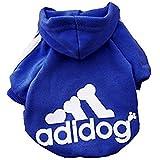 Idepet Soft Cotton Adidog Cloth for Dog, L, Navy Blue