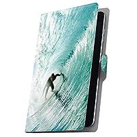 タブレット 手帳型 タブレットケース タブレットカバー カバー レザー ケース 手帳タイプ フリップ ダイアリー 二つ折り 革 波 サーフィン 001164 Arc 7 rakuten 楽天 Kobo コボ Arc7 arc7-001164-tb