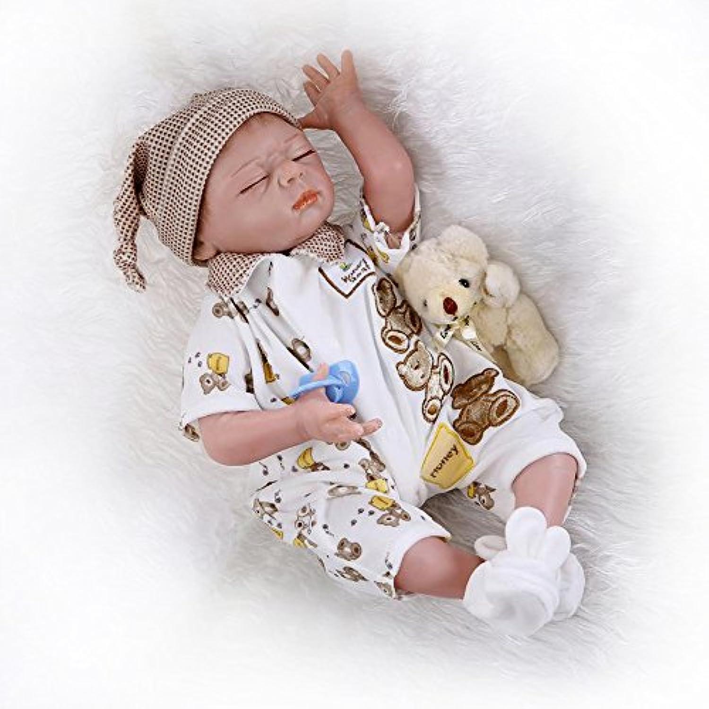 Rebornベビー人形ボーイズ55 cm LifelikeソフトSiliconeビニール人形新生児Sleeping Baby Dolls with Clothes