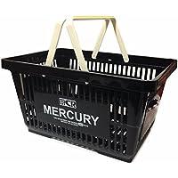 マーキュリー アメリカン プラスチック マーケット バスケット 買い物かご おもちゃ箱 アメリカン アメリカ 雑貨 収納 整理 レジャー グッズ (ブラック)