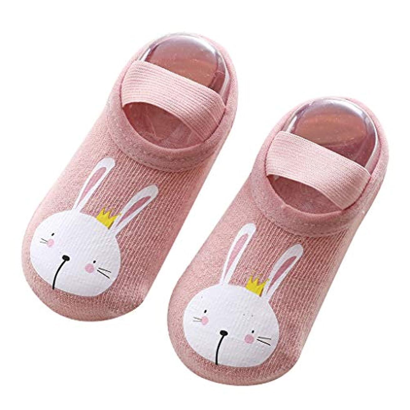 ベテランシュートパトロン幼児 綿 靴下 ファーストシューズ ベビールームソックス 快適 かわいい 滑り止め付き ソックスシューズ 快適 通気性いい 3足セット1-3歳 12cm-14cm (ブルー) (ピンク)