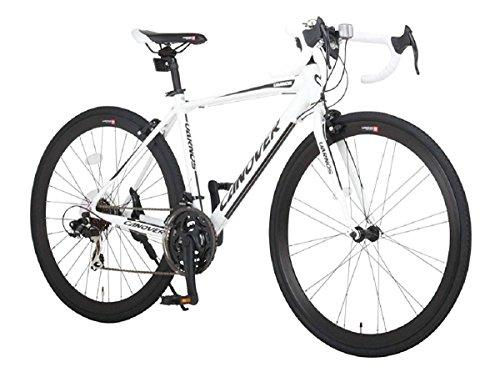 CANOVER(カノーバー) ロードバイク 700C シマノ21段変速 CAR-015(UARNOS) アルミフレーム フロントLEDライト付 ホワイト