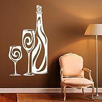 Ansyny キッチンウォールステッカーインテリアアート壁画ワインボトルパターン壁デカールビニールガラス家庭用品現代の家の装飾Diy 31 * 57センチ
