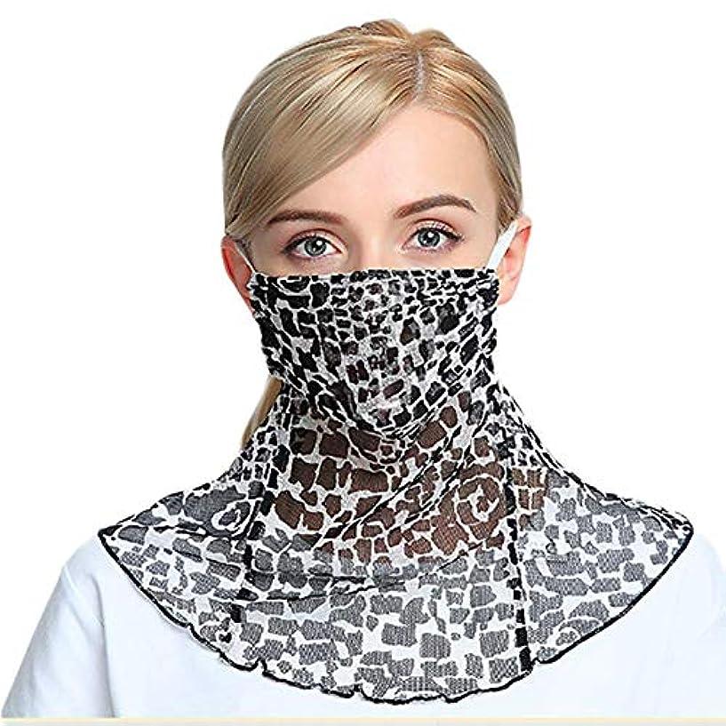 一節粘土面白いフェイスカバー シルク 100% (BERUKO) ネックカバー マスク チュールネット UVカット 日焼け対策 紫外線カット シルクメッシュ おしゃれに日よけ対策