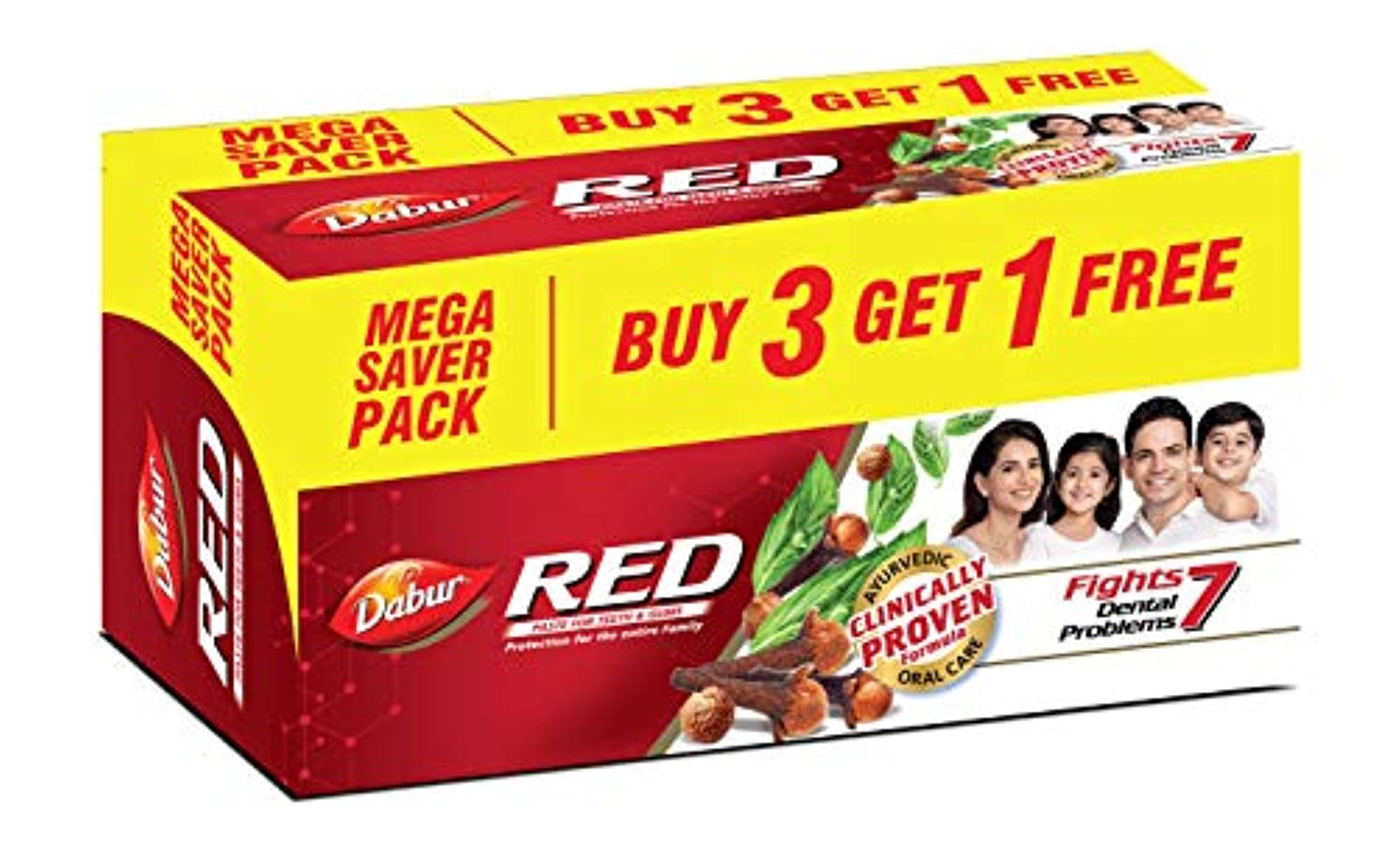 文字通り食料品店ペイントDabur Red Paste - 150g (Buy 3 Get 1 Free)