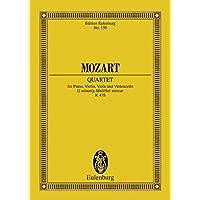 Quartet for Piano, Violin, Viola and Violoncello G Minor K478