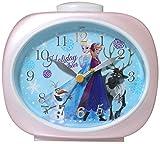 Disney 目覚まし時計 アナと雪の女王 アナログ表示 連続秒針 パールピンク DIA-5560-16AE