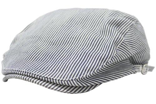 (エクサス)EXAS (大きめ61cm)スタンダードスタイル無地ハンチング(調節可能) ヒッコリー