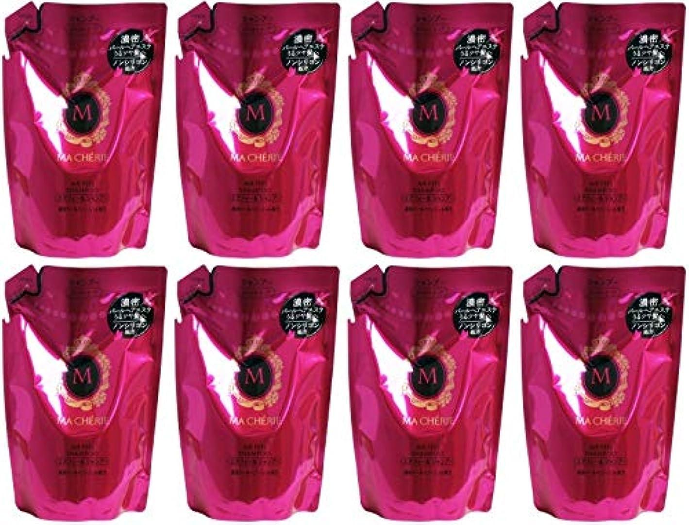 時間鑑定オデュッセウス【まとめ買い】マシェリ エアフィール シャンプー 詰め替え用 (さらさら なめらか) 380ml【×8個】