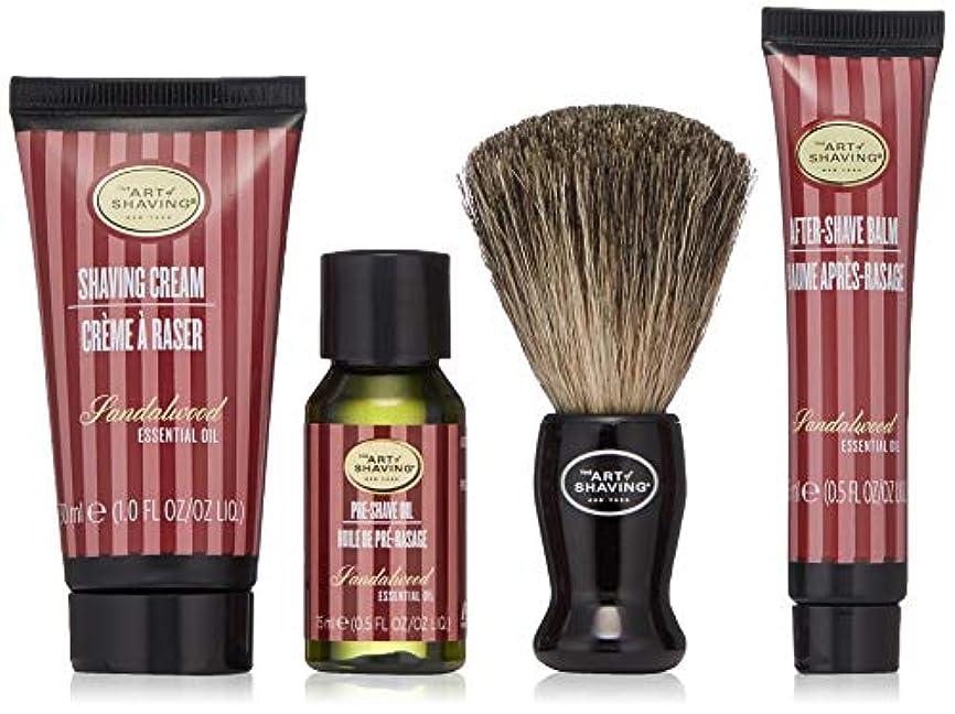 お気に入りクルー暖かくアートオブシェービング Starter Kit - Sandalwood: Pre Shave Oil + Shaving Cream + After Shave Balm + Brush + Bag 4pcs + 1Bag...
