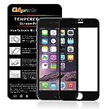 OAproda iphone 6s全面3D保護フィルム iPhone 6全面ガラスフィルム アイフォン6sフル液晶強化ガラスフル アイフォン6スクリーン iPhone全面カバー ガラス面を全て覆える設計 キズ防止 耐衝撃 3Dtouch 指紋防止 油脂防止 ラウンドエッジ加工 硬度9H 4.7インチ ブラック 1枚
