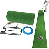 ゴルフ練習器具 パターマット 距離感練習セット【パター練習用マット】ロング(ミラー型練習器具付き)