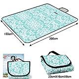 ANBURT レジャーシート 厚手 折りたたみ式 携帯便利 防水 洗える 150×200cm(6~8人用) (カラフル4) 画像