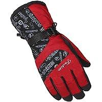 冬ミトンfor Man /スキーグローブ/駆動手袋/スポーツグローブ、レッド