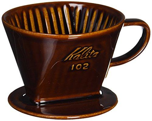 カリタ Kalita コーヒー ドリッパー 陶器製 102-ロト(2~4人用) ブラウン #02003 [並行輸入品]