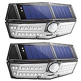 Mpow センサーライト ソーラーライト 30led IPX6防水 屋外照明 センサー時間30s 人感ライト 自動点灯 玄関 庭 駐車場 18ヶ月間保証 停電防災緊急対策 2個