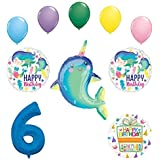 Mayflower Products ヒナギクジラ パーティー用品 6歳の誕生日 マーメイド バルーン ブーケ デコレーション