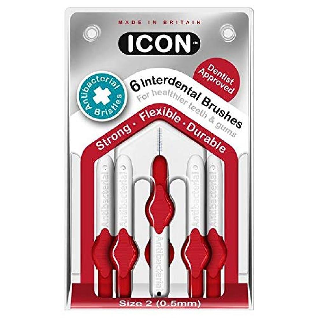 タイピスト政権粘着性[Icon ] アイコンの歯間には、パックあたり0.5ミリメートル6ブラシ - Icon Interdental Brushes 0.5mm 6 per pack [並行輸入品]