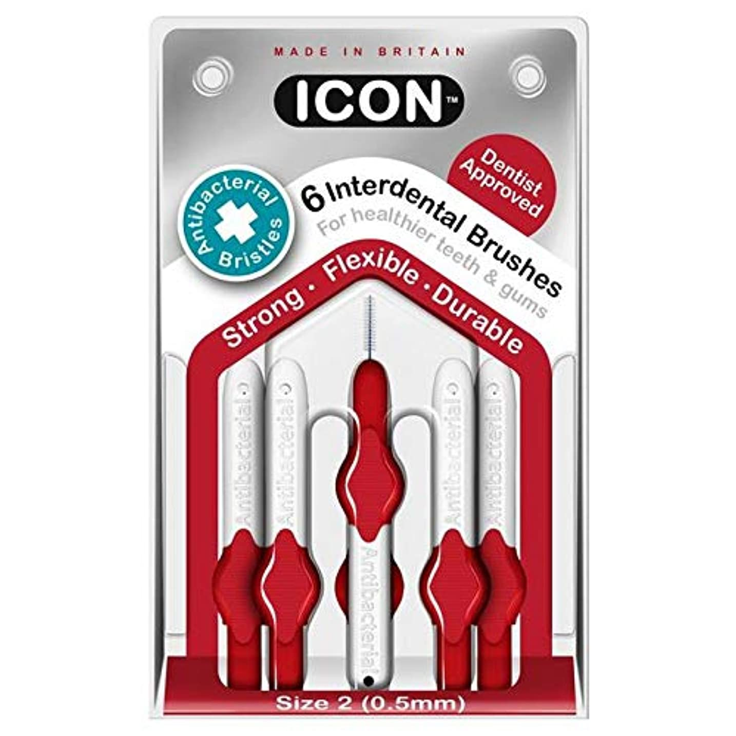 港守銭奴シャックル[Icon ] アイコンの歯間には、パックあたり0.5ミリメートル6ブラシ - Icon Interdental Brushes 0.5mm 6 per pack [並行輸入品]