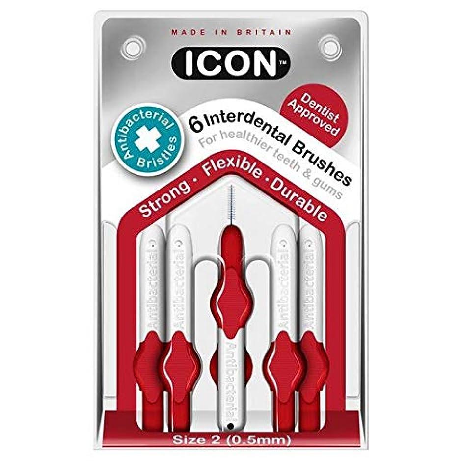 フェザー地上で心配する[Icon ] アイコンの歯間には、パックあたり0.5ミリメートル6ブラシ - Icon Interdental Brushes 0.5mm 6 per pack [並行輸入品]