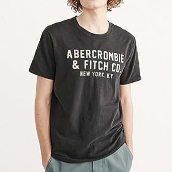 (アバクロンビー & フィッチ) Abercrombie & Fitch Tシャツ 半袖 メンズ アップリケ グラフィック ダークグレー XSサイズ 2376-XS