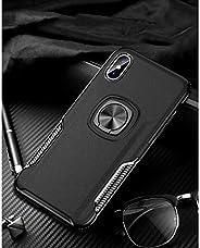 i Phone XRリング式TPUケースブラック強化ガラス&タッチペン付き362-2-3