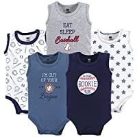 Hudson Baby Unisex Baby Sleeveless Cotton Bodysuits