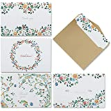 Thank You Cards - 4 Design of 40 Blank Thank U Greeting Notes Card with Envelopes and Stickers, 3.15 x 4.72 Inches- for Wedding, Valentine's Day, Baby Shower, Anniversary
