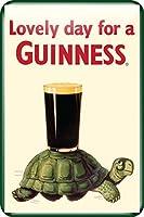 Guinness Tortoise メタルサインプレート 300mm x 200mm (sg)