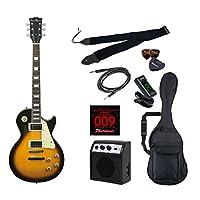 PhotoGenic エレキギター 初心者入門ライトセット レスポールタイプ LP-260/BS ブラウンサンバースト