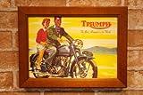 【復刻ポスターとB5フレームセット】 トライアンフ Triumph 2人乗り