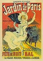 """ap06ヴィンテージJardin De Paris Jules Cheret Champs Elyseesフランスコンサート広告ポスターre-print a1a2a3 A4 (297 x 210mm) 11.7"""" x 8.3"""" AP06A4"""