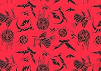Witches Goblins Bats Pumpkins Halloween Gift Wrap Paper 1 Continuous 8 Ft Roll
