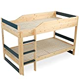 LOWYA (ロウヤ) ベッド 2段ベッド セパレート可能 すのこ パイン材 無垢材 高さ調節可能 シングルベッド キッズベッド 子供 新生活 おしゃれ ナチュラル/ネイビー