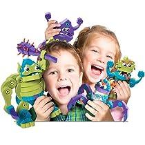 Bloco Toys ブロコトイズ ブロック 知育玩具 オーガ & モンスターズ お風呂で遊べるおもちゃ 4歳~