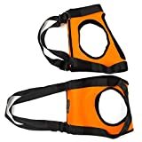Lovoski ペット 補助ベルト 犬対応 老犬介護用 歩行補助 ハーネス キャリア スリング ポータブル リフトを助ける 全3色3サイズ - オレンジ, S