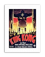 Film King Kong Horror Monsters Picture Canvas Art Print