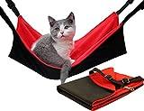 ForNeat キャットハンモック チェア 居心地よい小さいペット動物ハンギングハンモック心地ベッド眠るパッド (L, 赤)