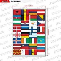 KUNGFU GRAPHICS カンフー グラフィックス EU EUROPEAN COUNTRY FLAG レーシングスポンサーロゴ マイクロデカールシート