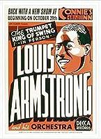 ポスター ルイ アームストロング ルイ アームストロング - Connie\'s Inn NYC、 1935 - 額装品 アルミ製ハイグレードフレーム(ホワイト)