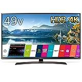LG 49V型 4K 対応 液晶 テレビ HDR対応 IPS パネル スリムボディ Wi-Fi内蔵 外付けHDD録画対応(裏番組録画) UJ630Aシリーズ 49UJ630A