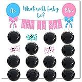 Wasatch Goods - 性別発表パーティーゲームパック用品 ベビーシャワー 女の子や男の子用 装飾バルーン 予測 ピンク ブルー ブラック