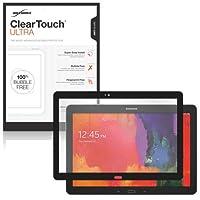 Galaxy Tab Pro 12.2スクリーンプロテクター、BoxWave ® [ ClearTouch Ultraアンチグレア]バブル無料スクリーンガードW/Colored Border for Samsung Galaxy Tab Pro 12.2–ブラック