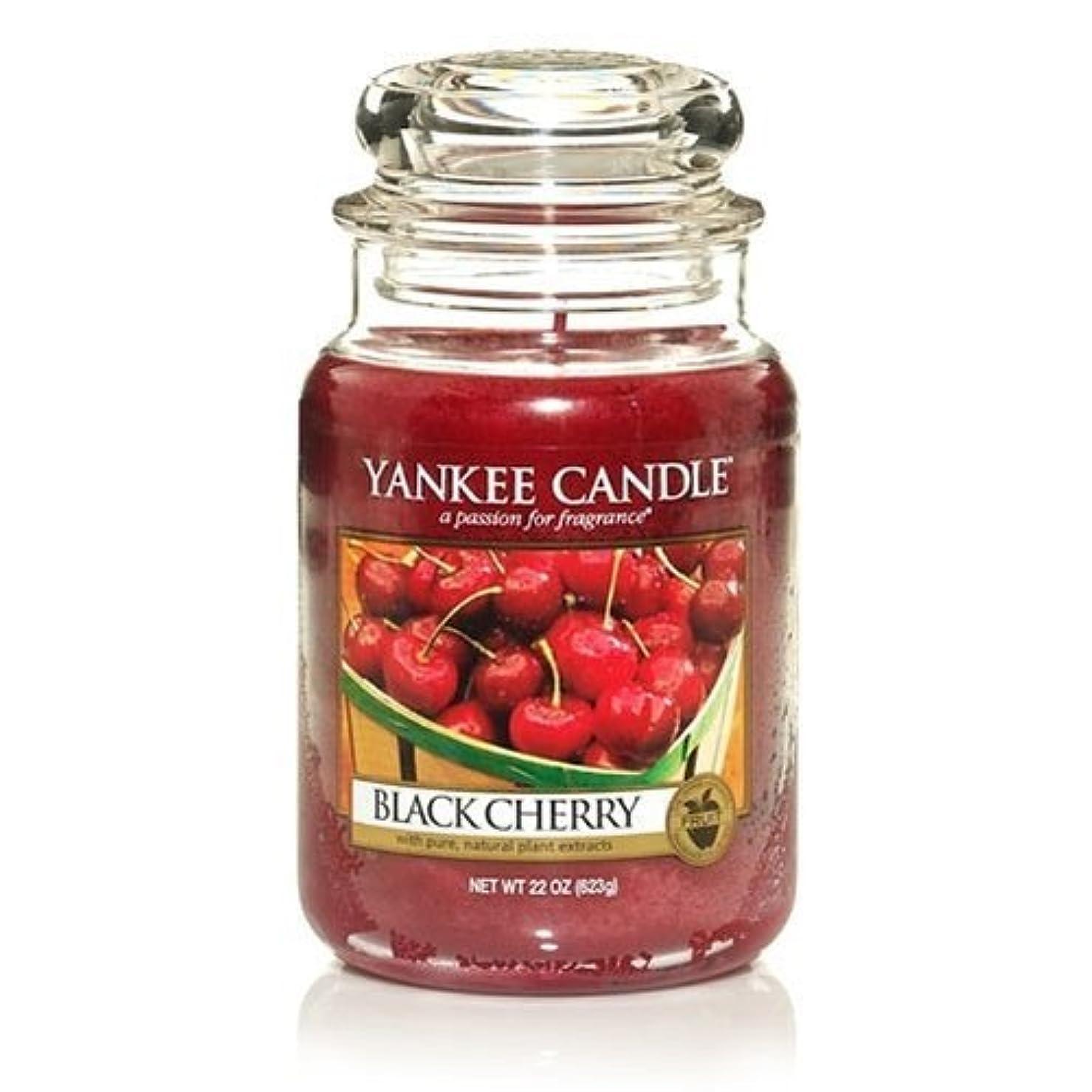 あからさまオンス不均一Yankee Candle Large Black Cherry Jar Candle 1129749 by Yankee Candle [並行輸入品]